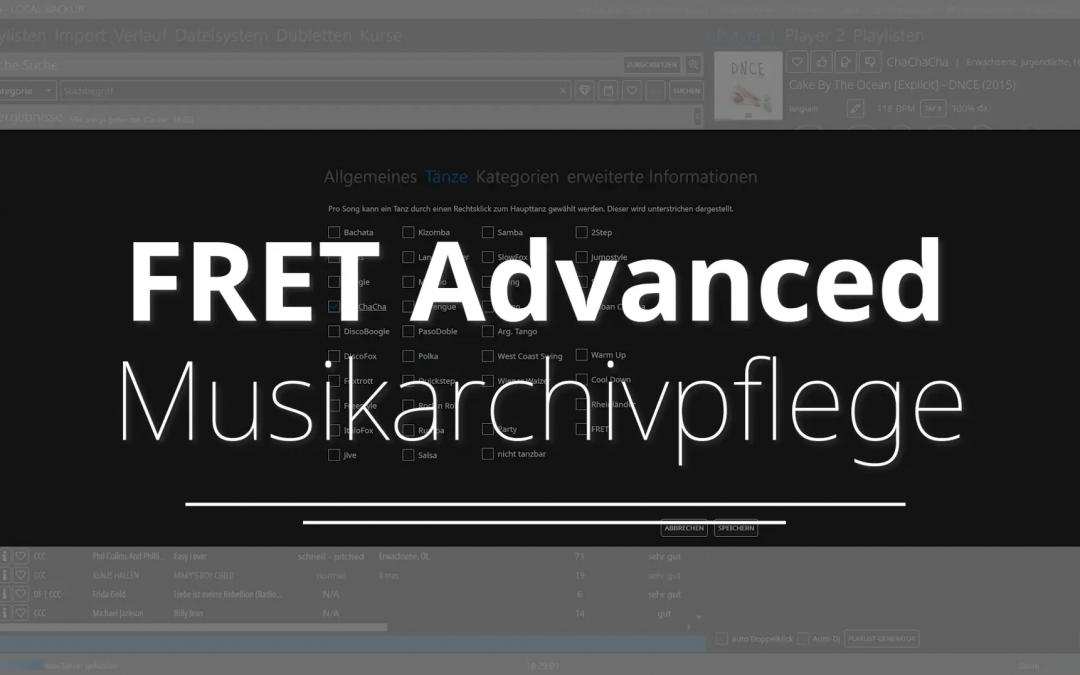 FRET Advanced – Musikarchivpflege