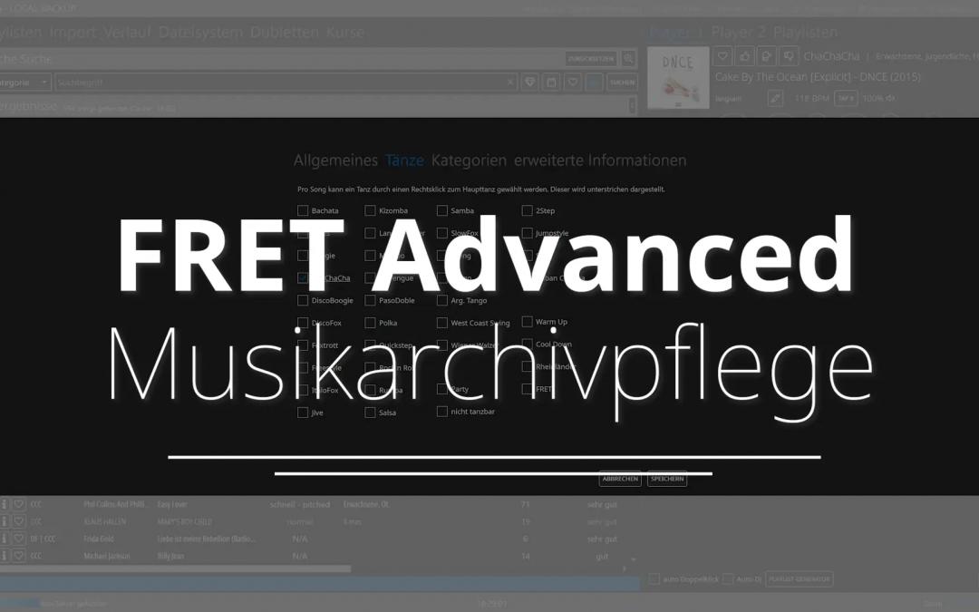 FRET Advanced – Musikarchivpflege
